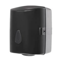 Диспенсер для паперових рушників в рулонах, чорний пластик АВС