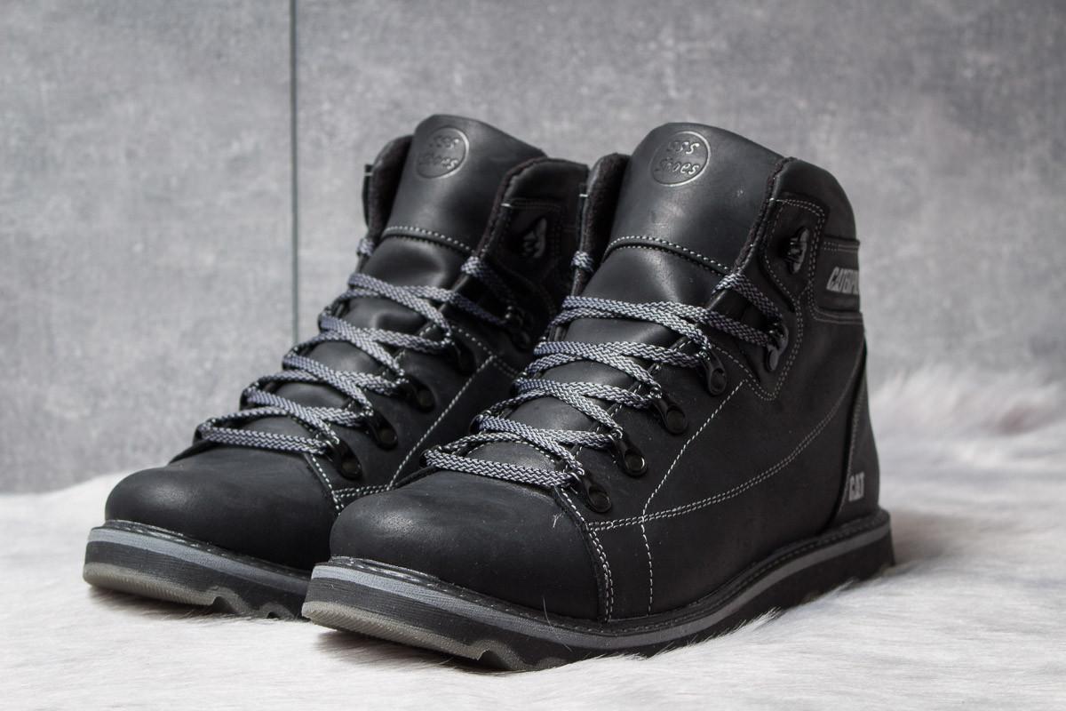 Зимние ботинки  на меху CAT Caterpilar, черные (30753) размеры в наличии ► [  44 (последняя пара)  ]