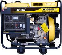 Дизельный генератор 5 кВт  KIPOR KDE6500E3 открытого типа