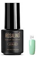 Гель-лак для ногтей маникюра 7мл Rosalind, шеллак, мятный 24