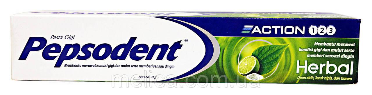 Зубная паста Pepsodent Action 1-2-3 Herbal на травах - 75 г.