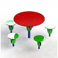 """Детский столик """"Поляна"""" диаметр 67 см уличный, фото 1"""