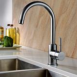 Кухонный смеситель Colorado сатин Blue Water (Польша), фото 2