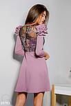 Вечернее сиреневое платье с оборками на плечах, фото 4