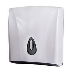 Роздавач паперових рушників, білий пластик АВС