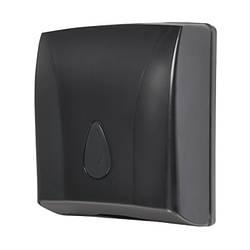 Роздавач паперових рушників, чорний пластик АВС