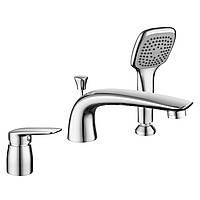 PRAHA new смеситель для ванны, врезной, на три отверстия,  хром, 35 мм , фото 1