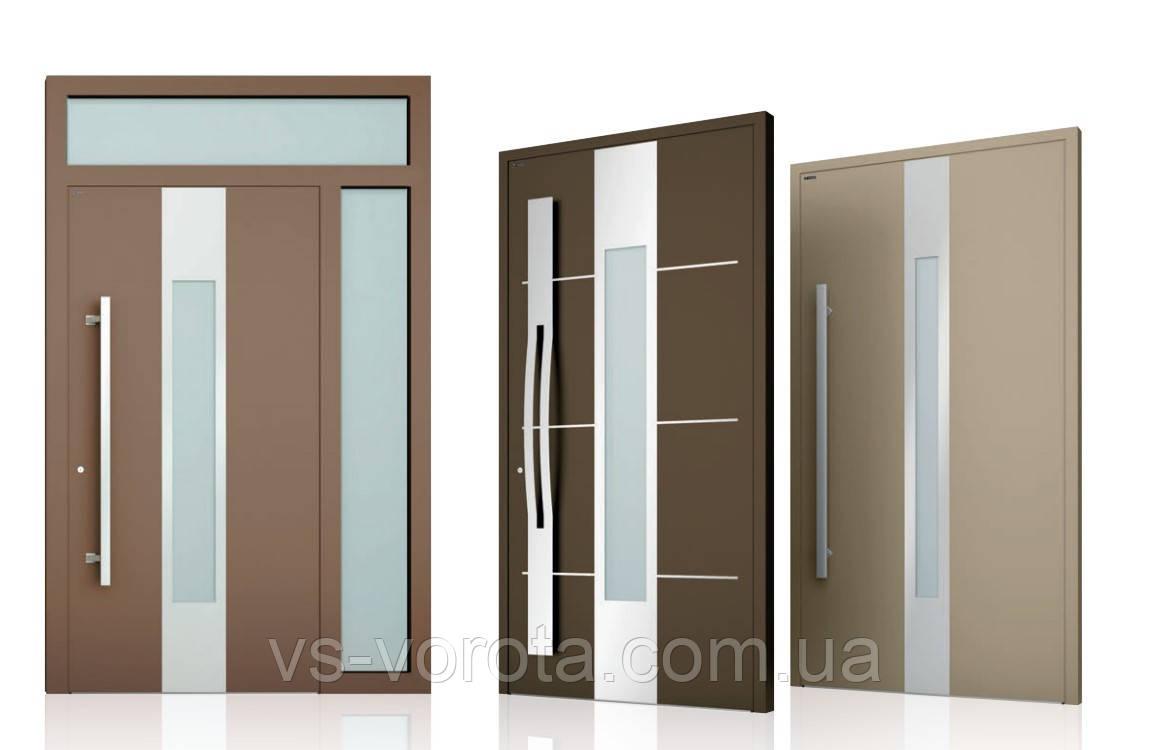 Двери алюминиевые входные WISNIOWSKI модель CREO 349 - размер 1200Х2300 мм