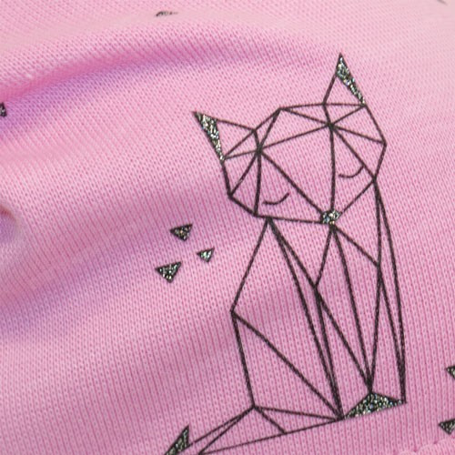 Шапка с геометрическим рисуноком лиса