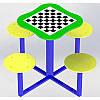Уличный столик для шахмат  для улицы