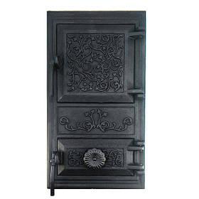 Чугунная дверца для печи, грубы 102901, дверка печная