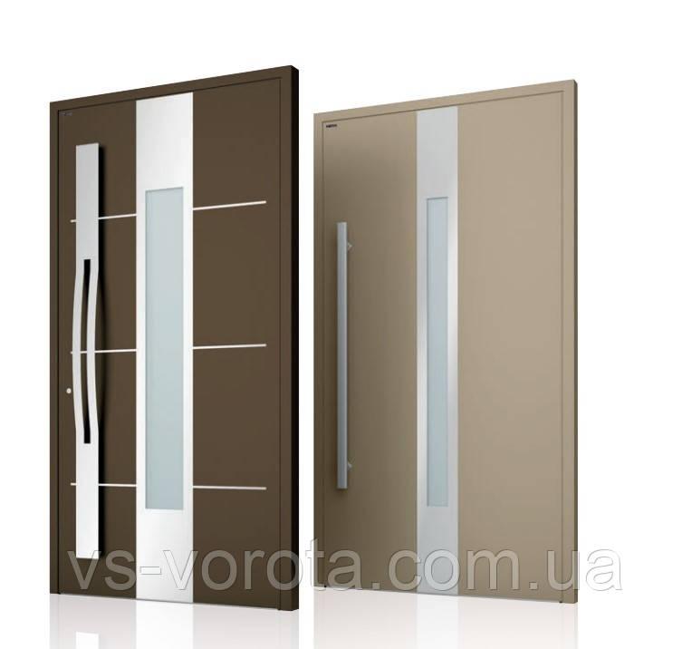 Двери алюминиевые входные WISNIOWSKI модель CREO 350 - размер 1200Х2300 мм