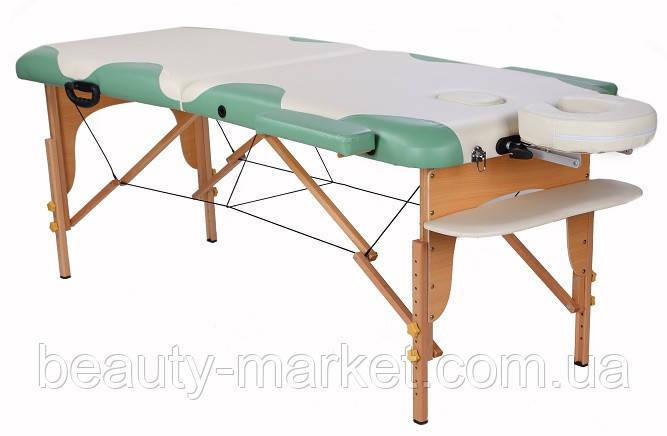 Деревянный массажный стол MIRACLE PLUS cream/green