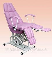 Кресло педикюрно-косметологическое  КП-3 на гидравлике c подставкой