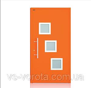 Двери алюминиевые входные WISNIOWSKI модель CREO 340 - размер 1200Х2300 мм