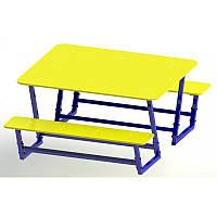 Столик со скамейками 150-120см DIO213