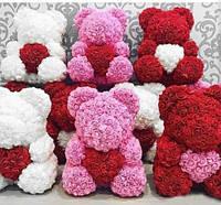 Мишка с сердцем из 3D роз Teddy Rose 40 см