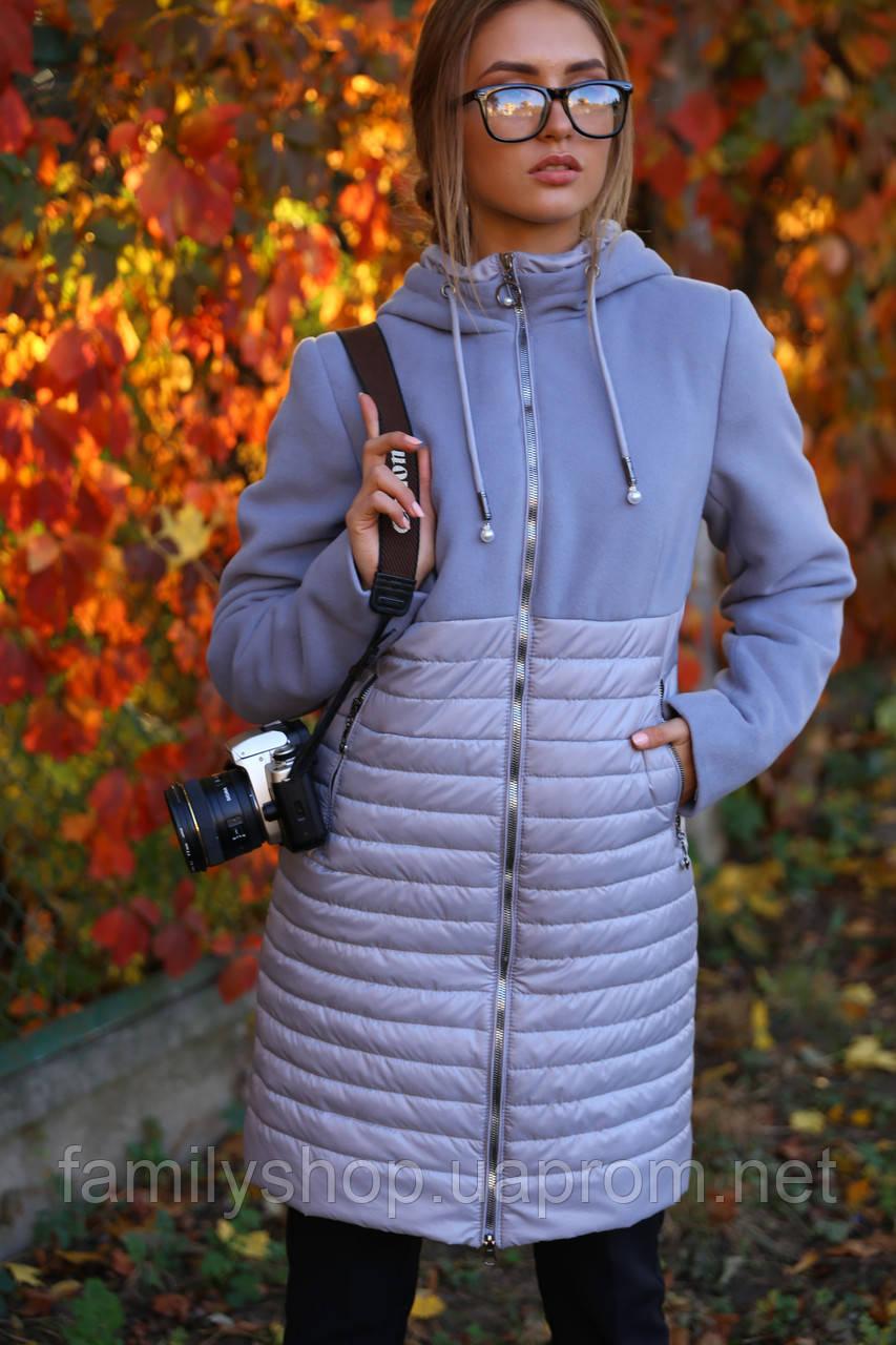 Женская осенняя удлиненная  куртка 2019 Агния  Nui Very (Нью вери)