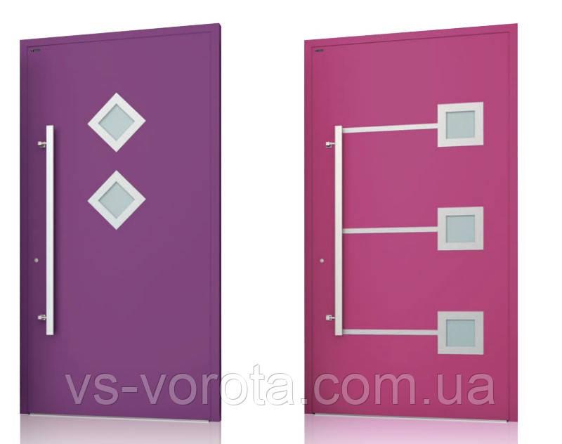 Двери алюминиевые входные WISNIOWSKI модель CREO 342 - размер 1200Х2300 мм