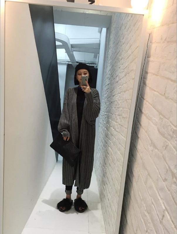 Кардиган женский стильный длинный серый опт
