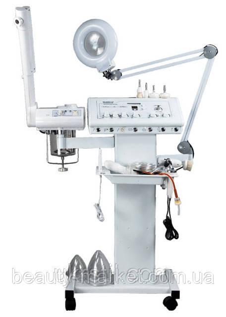 Комбайн 8 в 1; Вапоризатор, лампа лупа, дарсонваль, вакуум, спрей, УЗ фонофорез, коагулятор, уход за грудью
