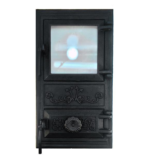 Дверцята для печі зі склом і регулюванням подачі повітря 102912