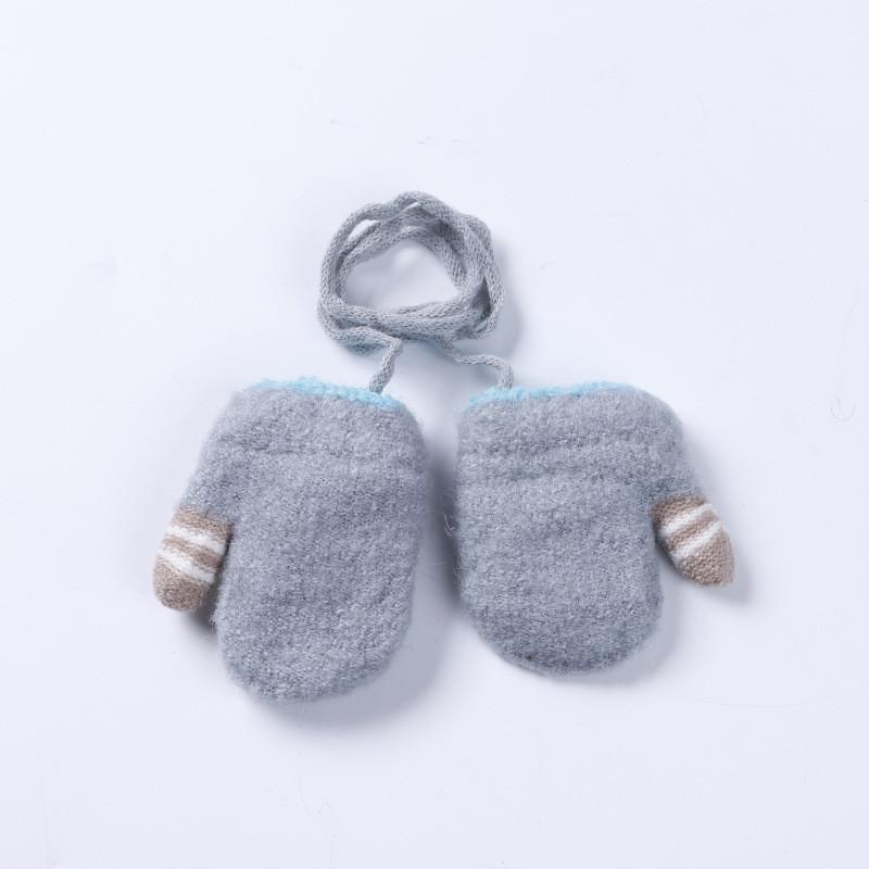 Детские варежки для новорожденных на верёвочке опт