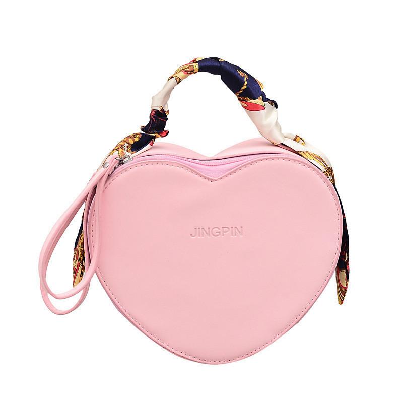 Розовая женская сумка кросс-боди в виде сердца опт