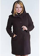 Пальто женское №17 (шоколад)