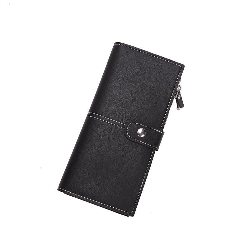 Женский кошелек двойного сложения черный