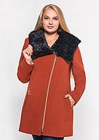 Пальто женское №42/1 ЗИМА (рыжий)