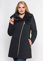 Пальто жіноче №42/1 ЗИМА (чорний)
