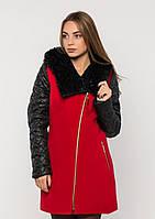 Пальто жіноче №43 ЗИМА (червоний), фото 1