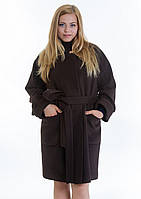 Пальто жіноче №20 (шоколад), фото 1