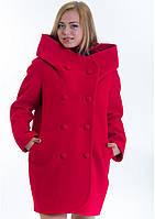 Пальто женское №14 (красный), фото 1