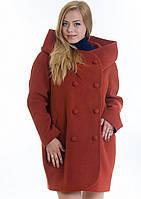 Пальто женское №14 (рыжий), фото 1