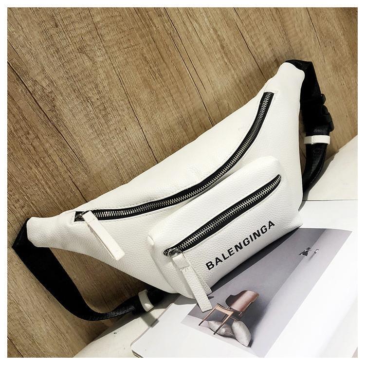 5b0341a57b6d Женская поясная сумка-бананка белая опт купить по выгодной цене в ...