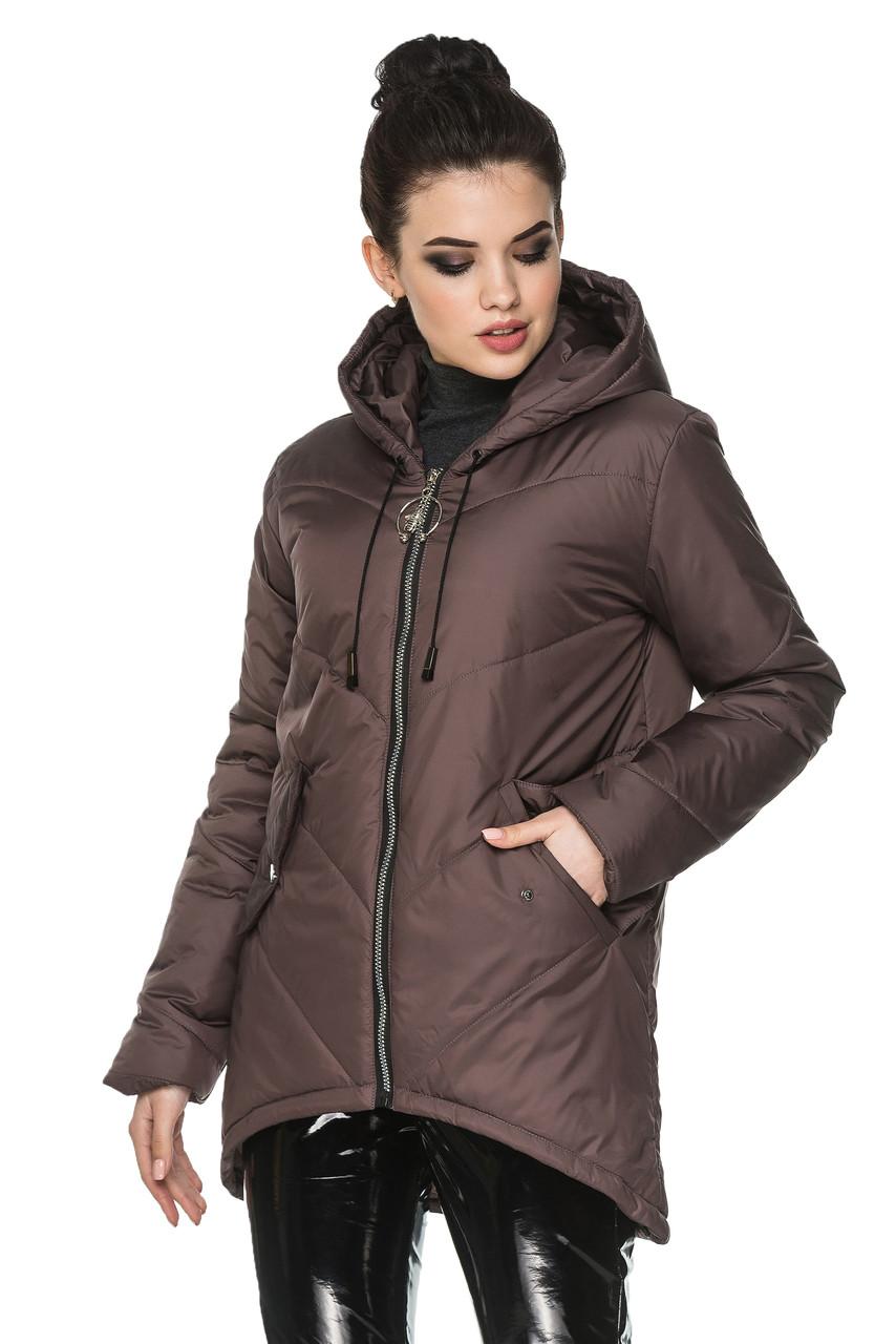 f9e140383e3 Демисезонная Женская Удлиненная Куртка Ассиметричным низом. от ...