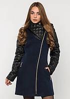 Пальто женское №43/1 ЗИМА (синий)