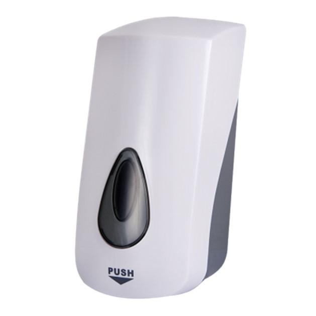 Дозатор для рідкого мила та дизенфікуючих гелей Sanela SLDN 06, об'єм 1 л., білий пластик ABS