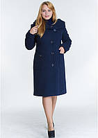 Пальто жіноче №24 ЗИМА (синій)