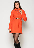 Пальто женское №3 (оранжевый)