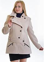Пальто женское №40 ЗИМА (бежевый), фото 1