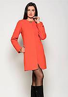 Пальто женское №41 (оранжевый)