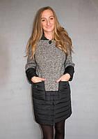 Пальто жіноче №50 (сірий), фото 1