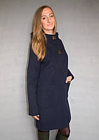 Пальто жіноче №51/1 ЗИМА (синій), фото 1