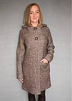 Пальто женское №52 ЗИМА (коричневый), фото 1