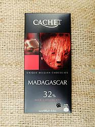 Шоколад черный CACHET Madagascar 32% cacao 100 gram