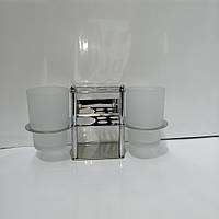 Утримувач для зубних щіток настінний з 2-ма склянками, фото 1