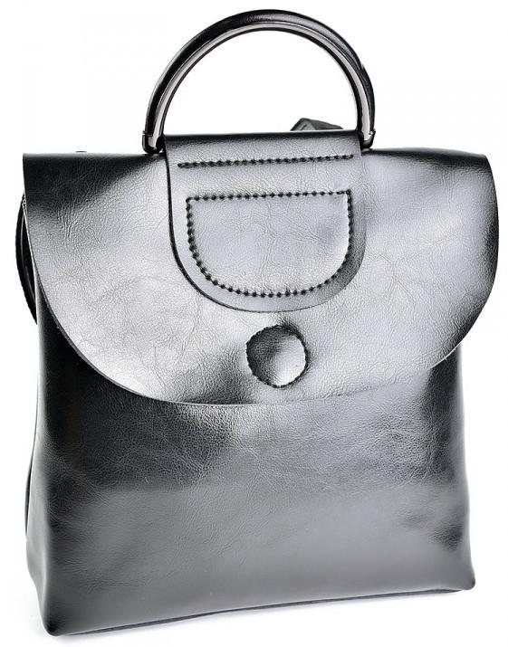 7c1f932cf5fd Женский кожаный рюкзак 8859 Black.Купить кожаный рюкзак оптом и в розницу в  Украине.